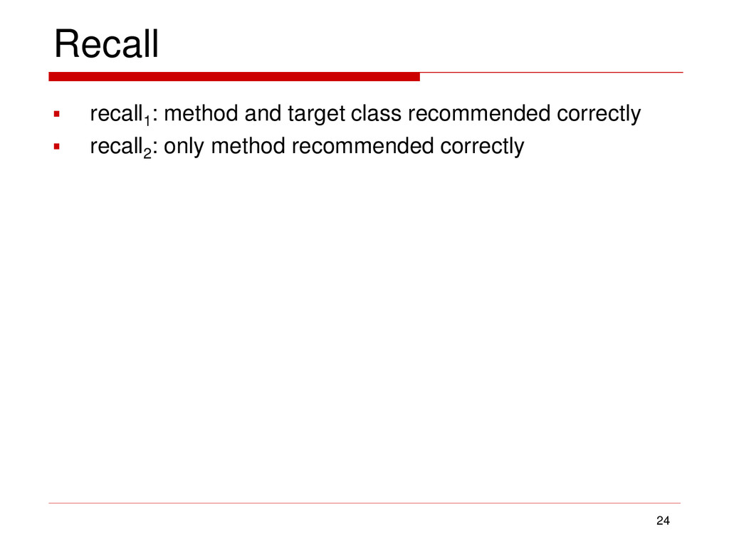 Recall 24  recall1 : method and target class r...