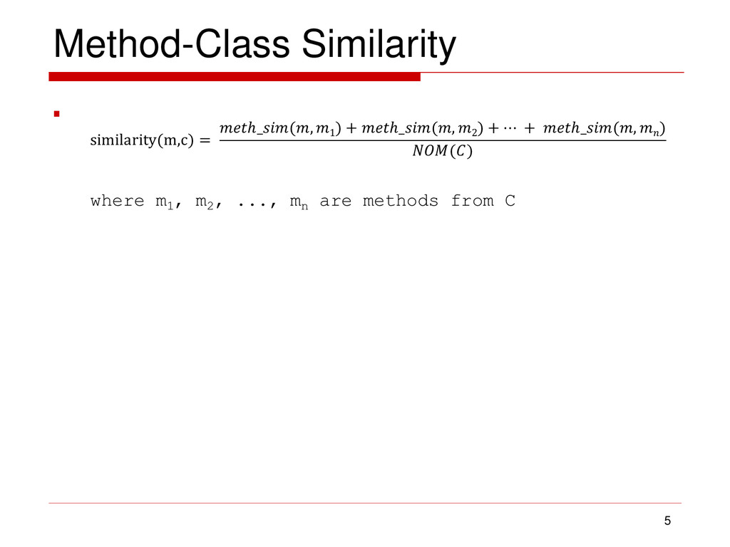 Method-Class Similarity  5