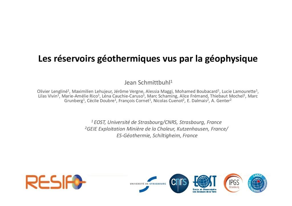 Les réservoirs géothermiques vus par la géophys...
