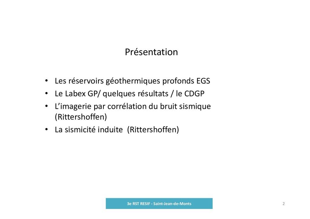 Présentation 3e RST RESIF ‐ Saint‐Jean‐de‐Monts...