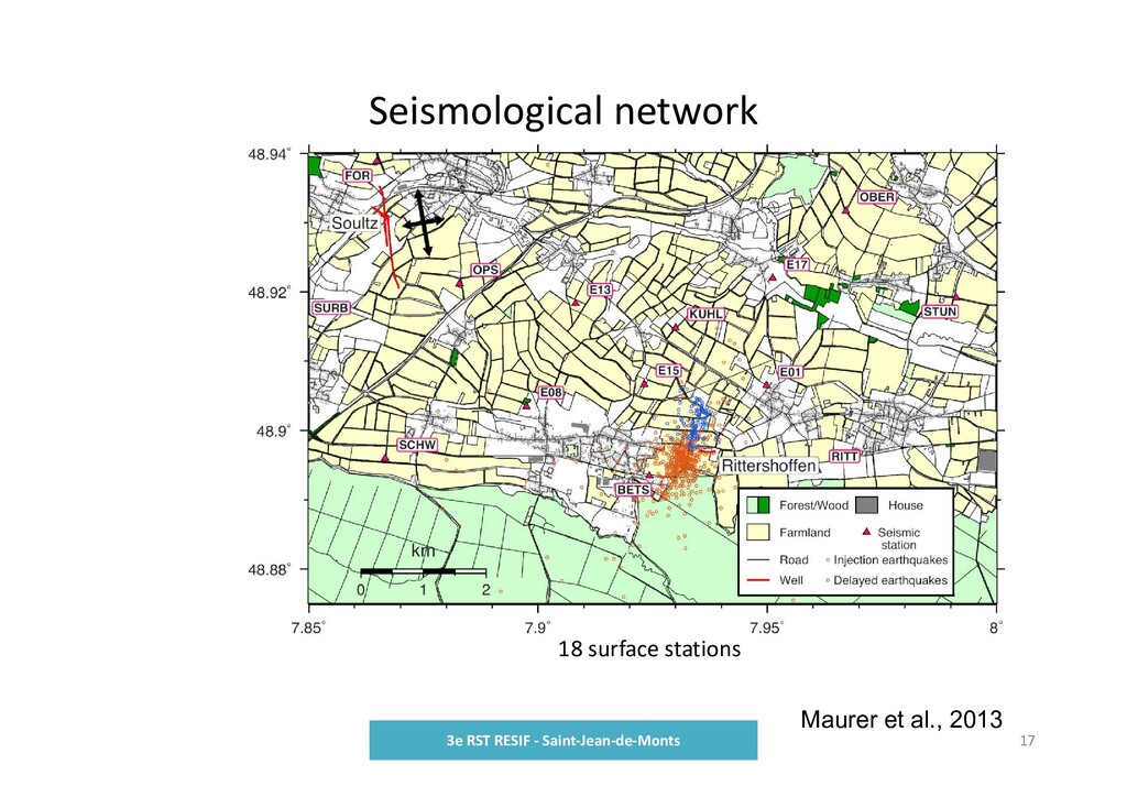 Seismological network 3e RST RESIF ‐ Saint‐Jean...