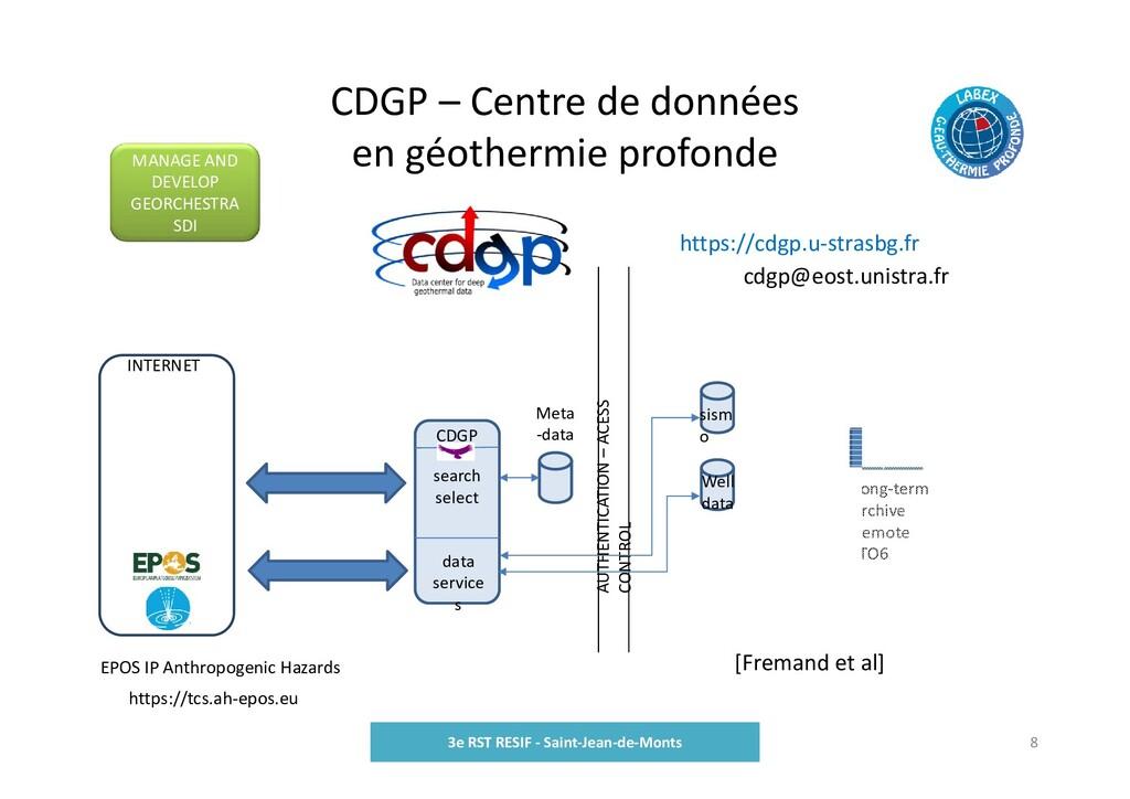CDGP – Centre de données en géothermie profonde...
