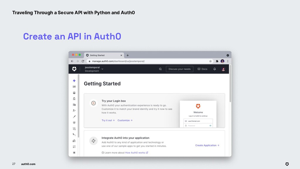 auth0.com 27 Create an API in Auth0 Traveling T...