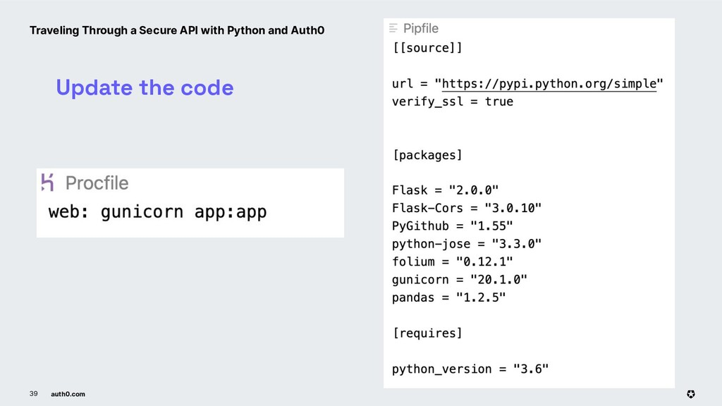 auth0.com 39 Update the code Traveling Through ...