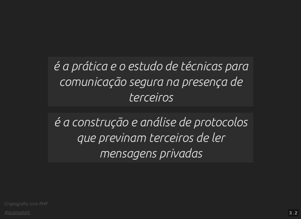 Criptografia com PHP @vcampitelli é a prática e ...