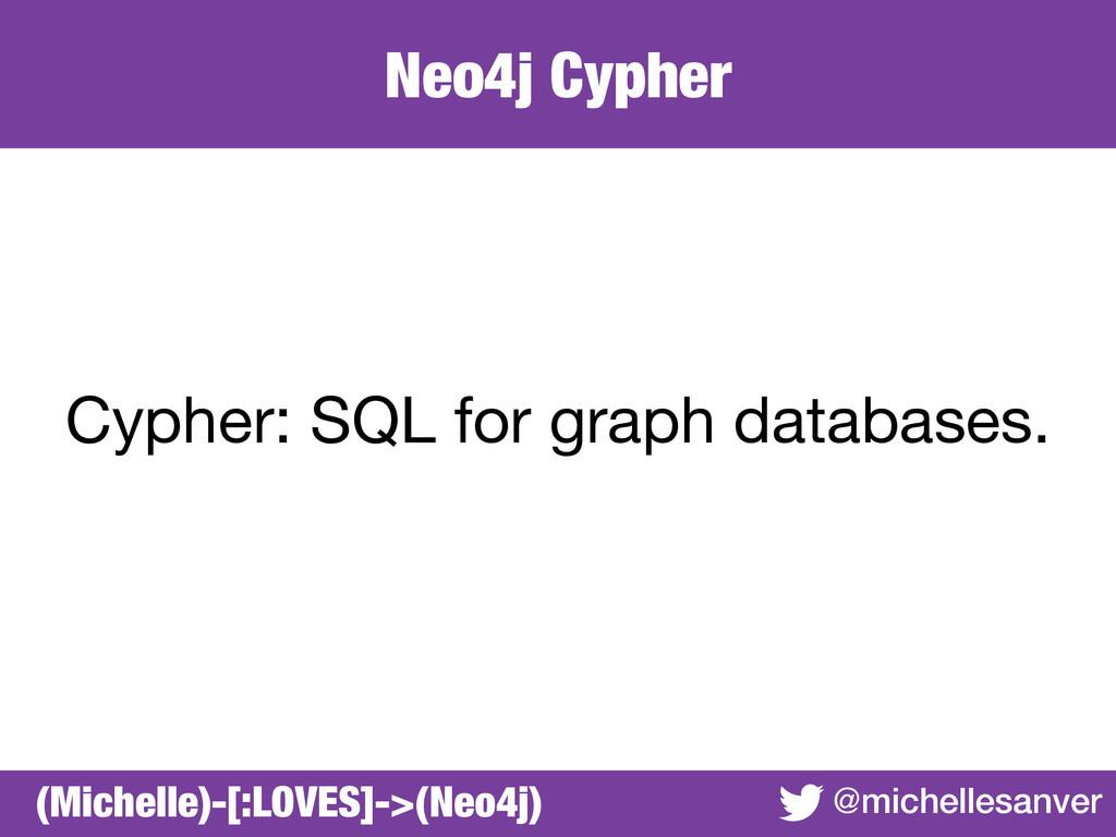 Neo4j Cypher @michellesanver Cypher: SQL for gr...