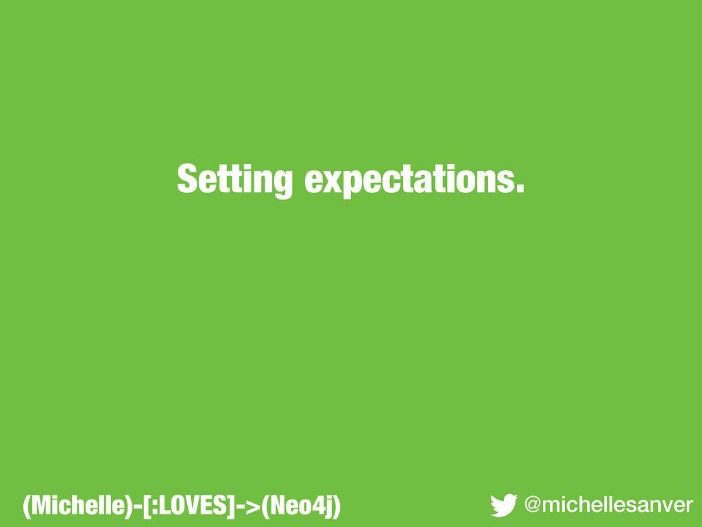 Setting expectations. @michellesanver (Michelle...