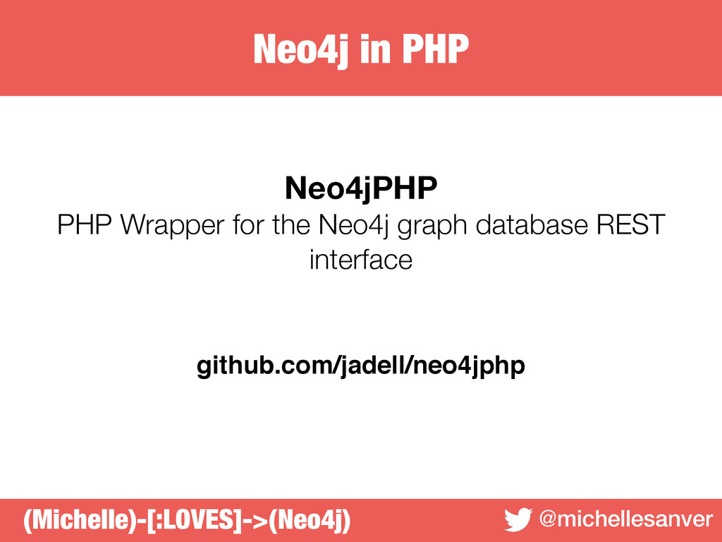 Neo4j in PHP @michellesanver Neo4jPHP PHP Wrapp...