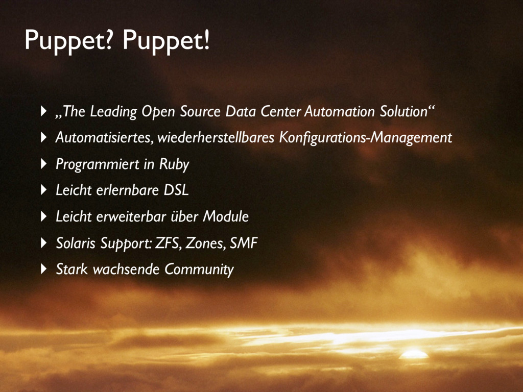 "Puppet? Puppet! ‣ ""The Leading Open Source Data..."