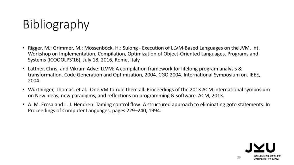 Bibliography • Rigger, M.; Grimmer, M.; Mössenb...