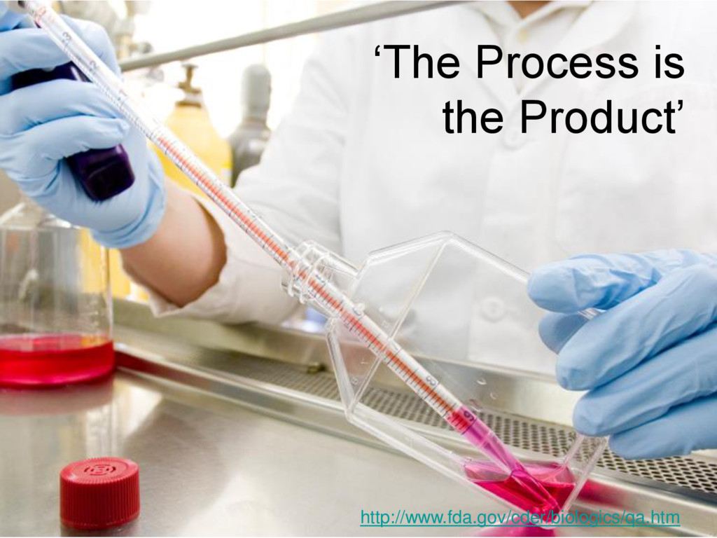 'The Process is the Product' http://www.fda.gov...