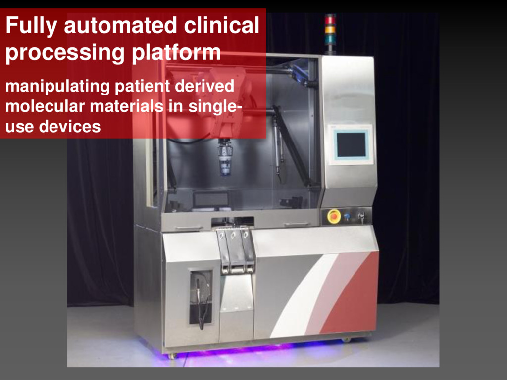 Fully automated clinical processing platform ma...