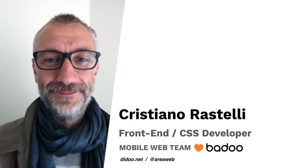 didoo.net / @areaweb Cristiano Rastelli Front-E...