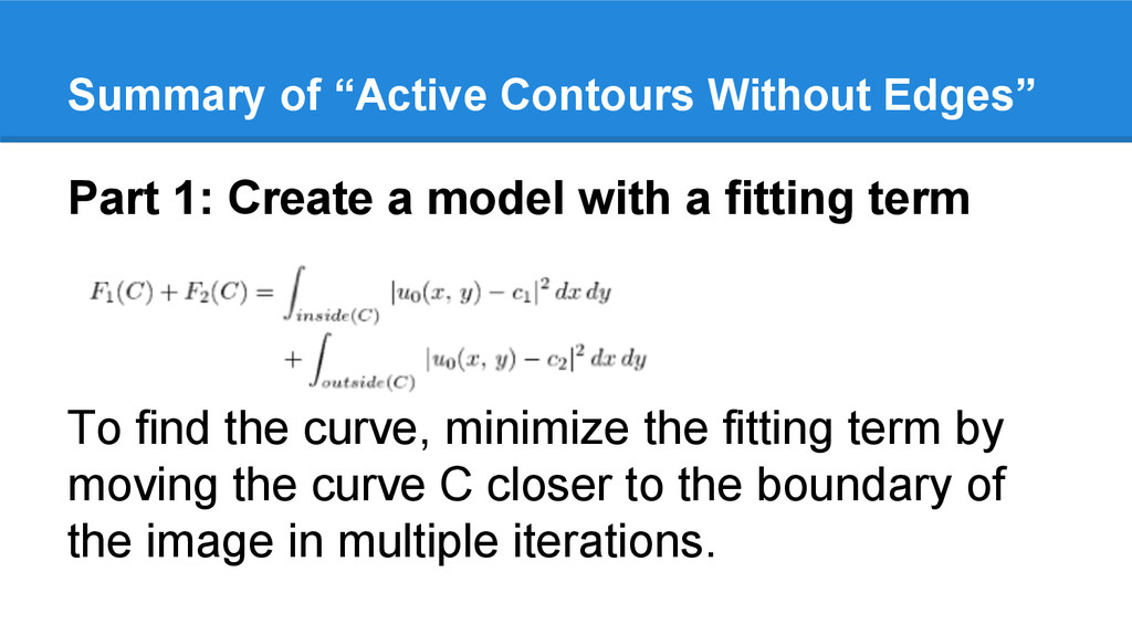 Part 1: Create a model with a fitting term To f...