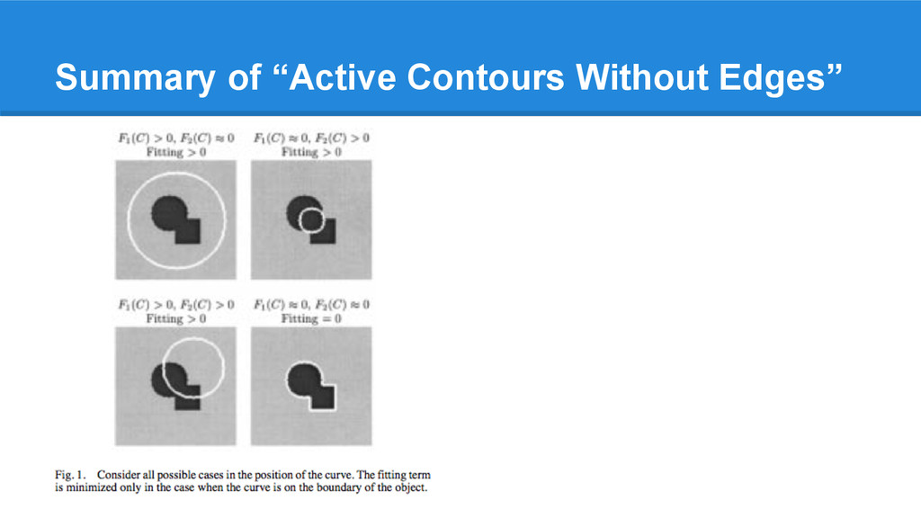 "Summary of ""Active Contours Without Edges"""