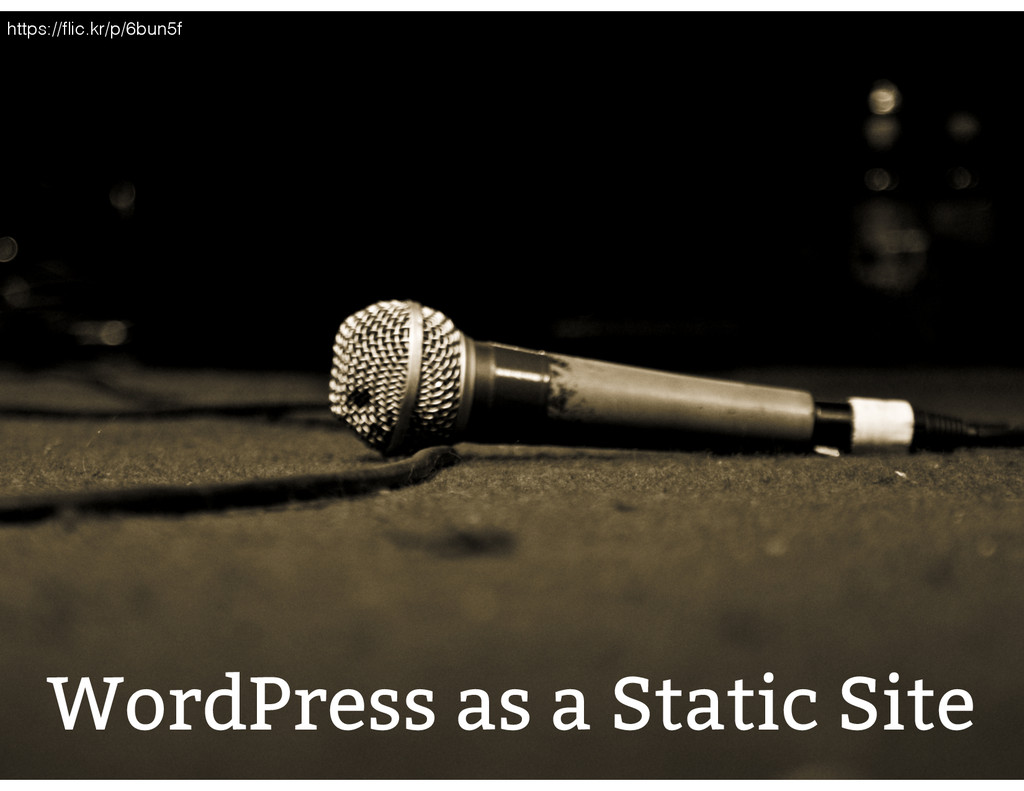 WordPress as a Static Site https://flic.kr/p/6bu...