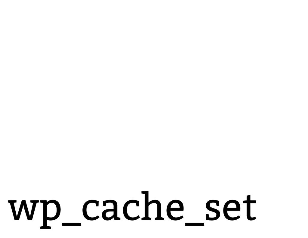 wp_cache_set
