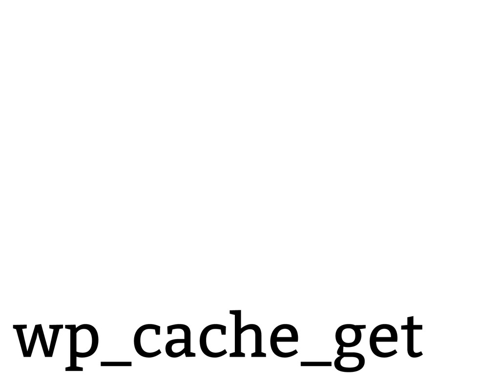 wp_cache_get