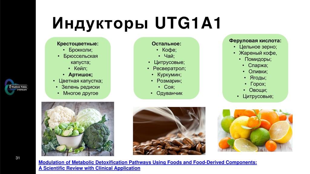 31 Индукторы UTG1A1 Modulation of Metabolic Det...