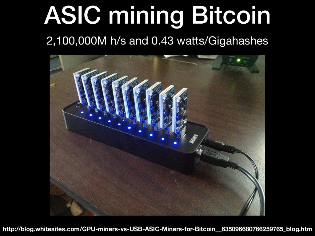 ASIC mining Bitcoin 2,100,000M h/s and 0.43 wat...