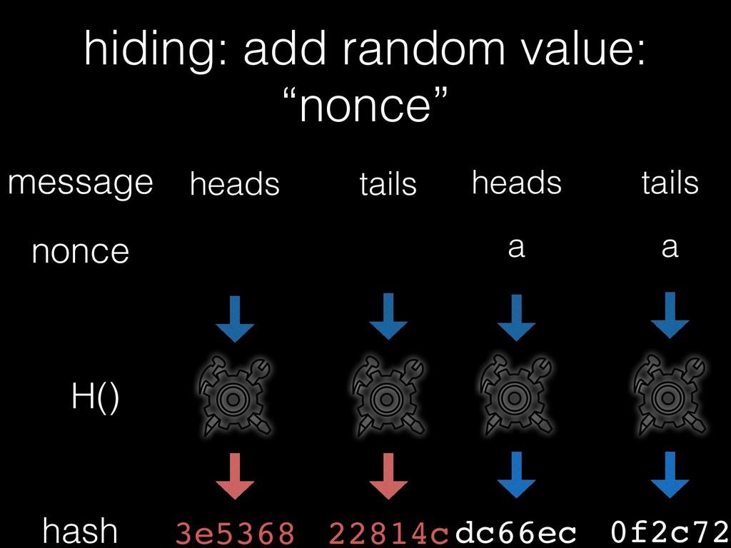 H() hash message tails dc66ec heads hiding: add...