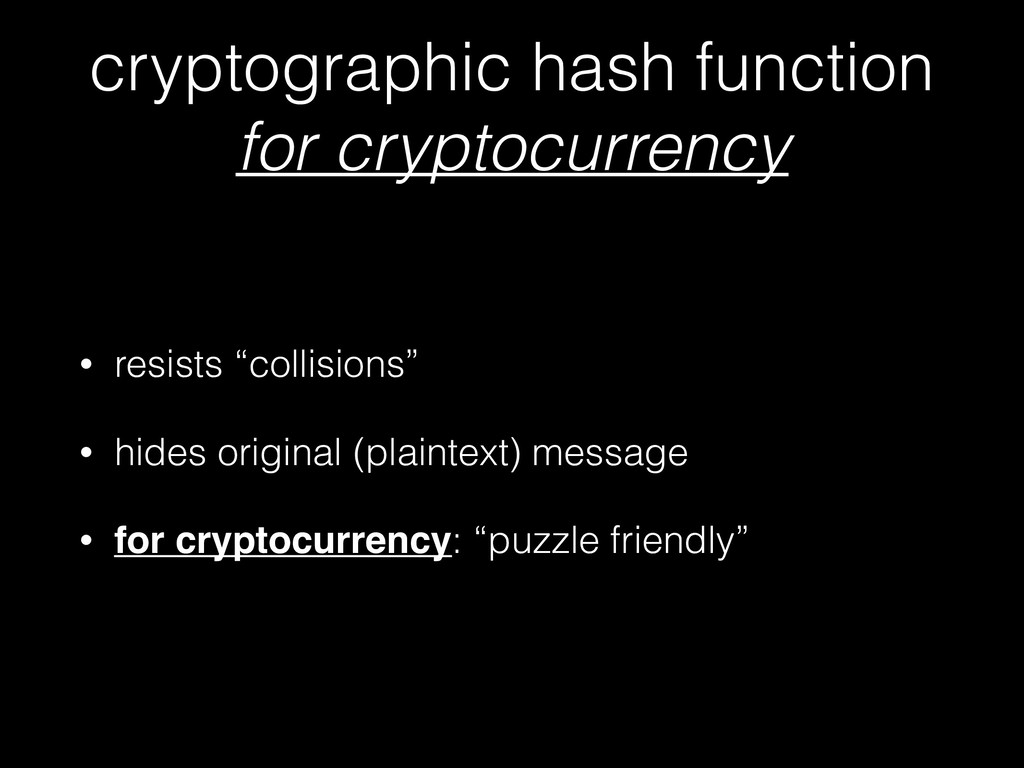 cryptographic hash function for cryptocurrency...