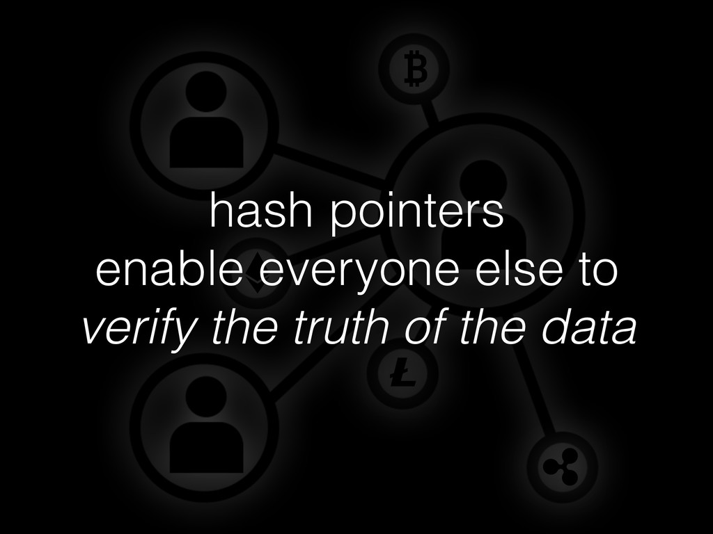 hash pointers enable everyone else to verify th...