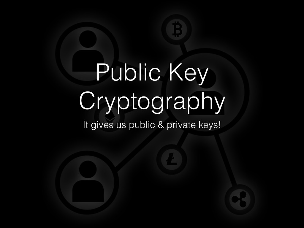 Public Key Cryptography It gives us public & pr...