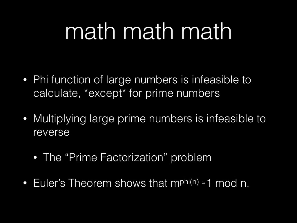math math math • Phi function of large numbers ...