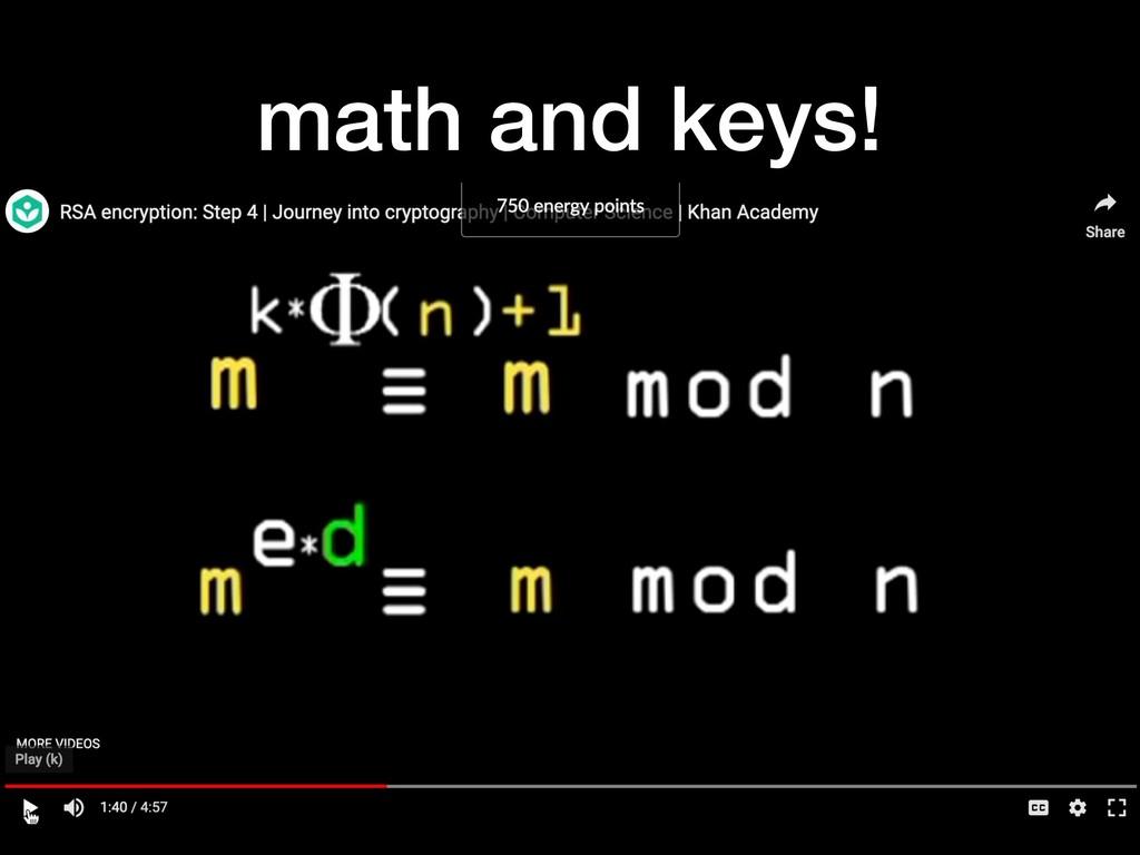 math and keys!