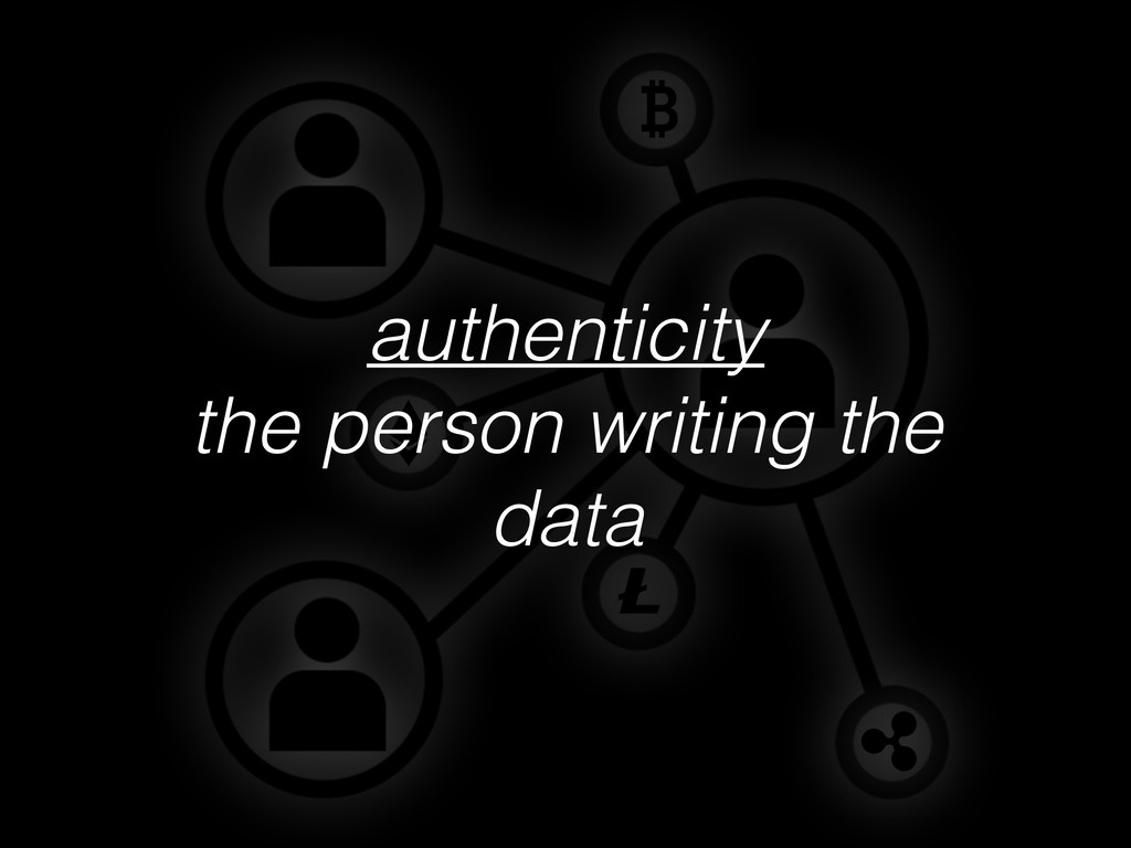 authenticity the person writing the data