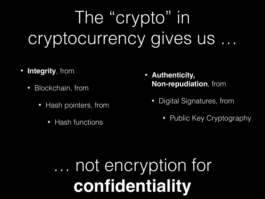 """The """"crypto"""" in cryptocurrency gives us … • Int..."""