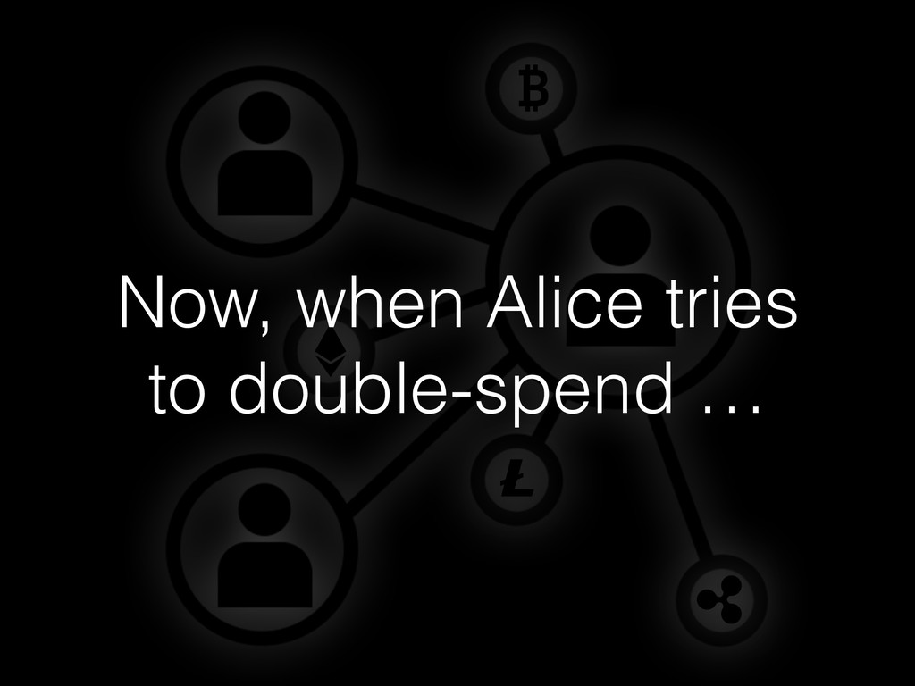Now, when Alice tries to double-spend …