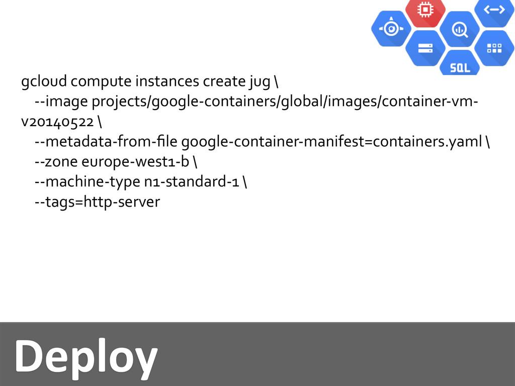 Deploy gcloud compute instances cr...