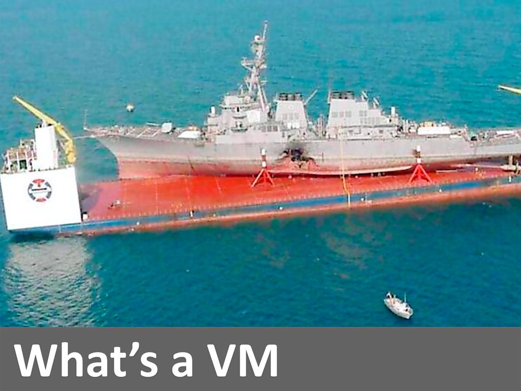 What's a VM