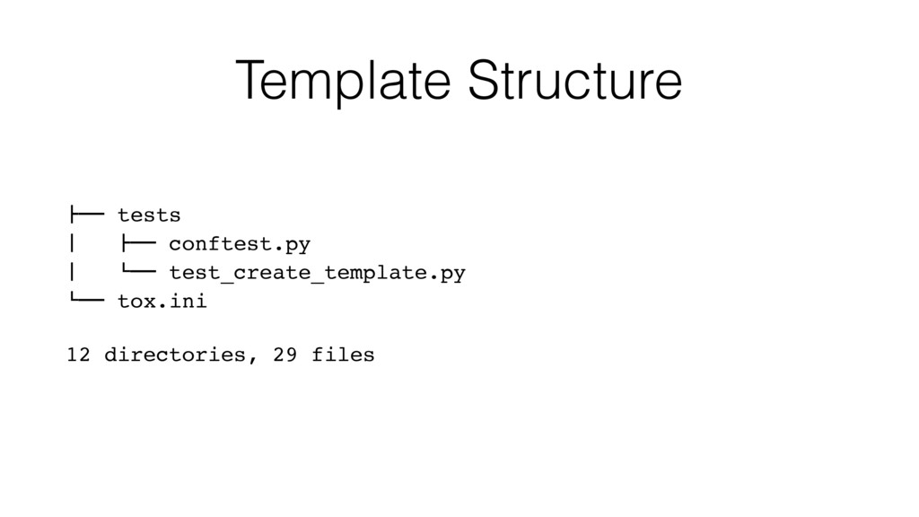 "Template Structure !"""" tests # !"""" conftest.py ..."