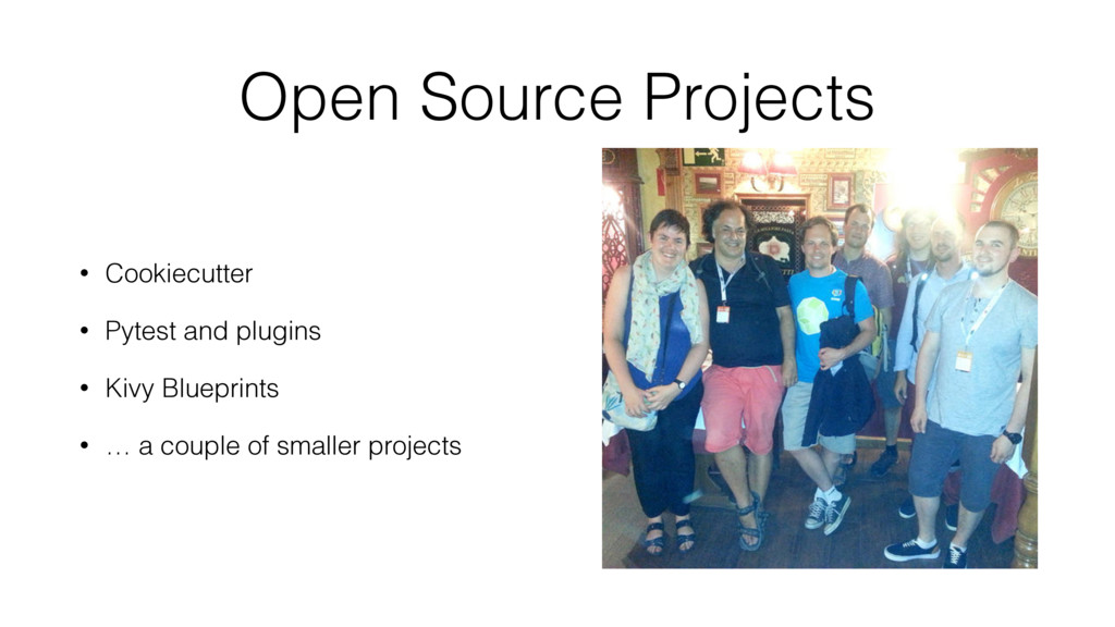 Open Source Projects • Cookiecutter • Pytest an...
