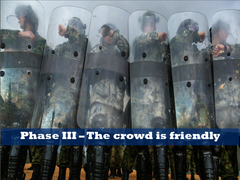Phase III – The crowd is friendly