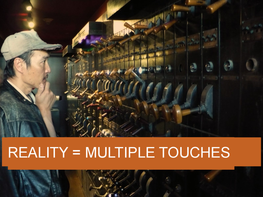 SEO = PULLING ONE LEVER REALITY = MULTIPLE TOUC...