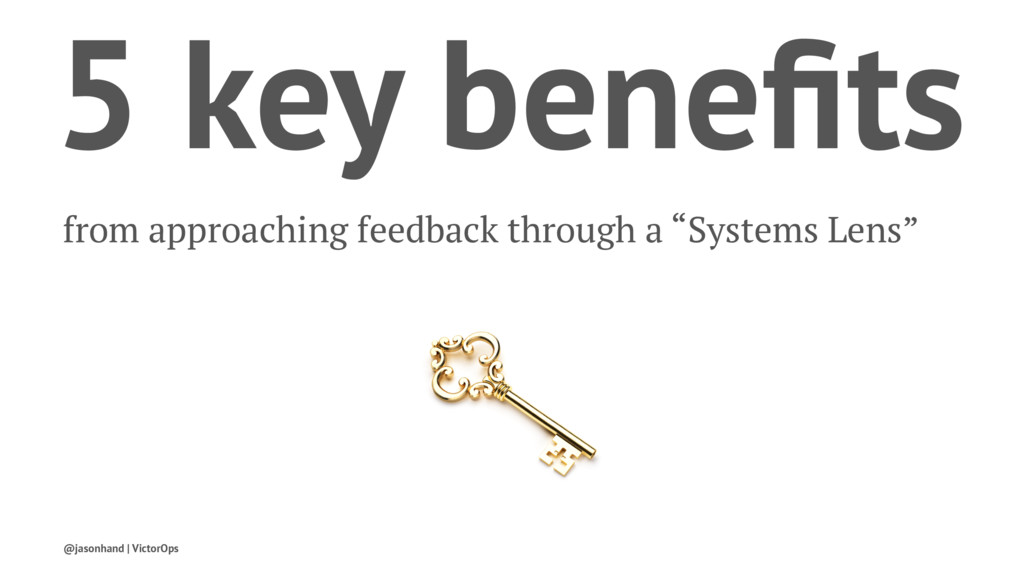 5 key benefits from approaching feedback through...