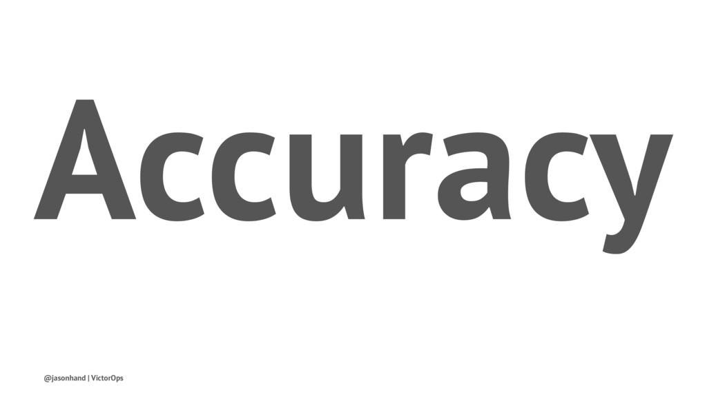 Accuracy @jasonhand | VictorOps