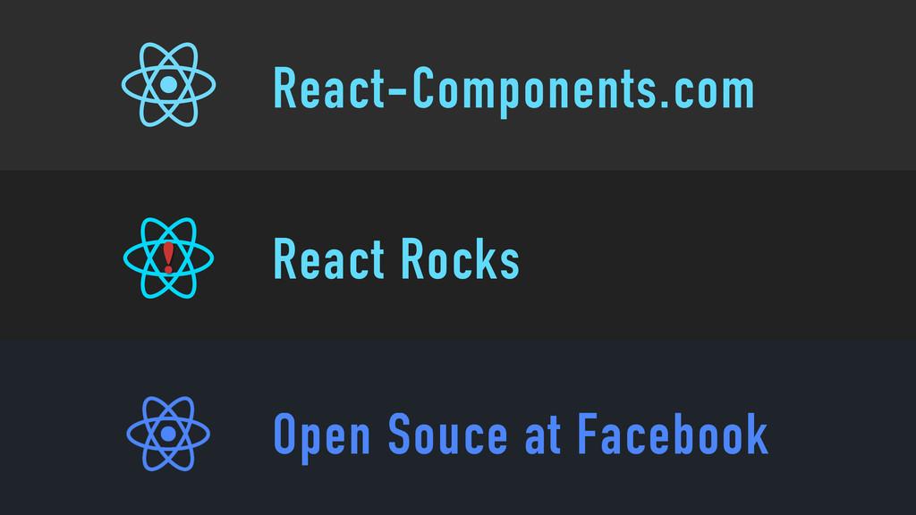React-Components.com React Rocks Open Souce at ...