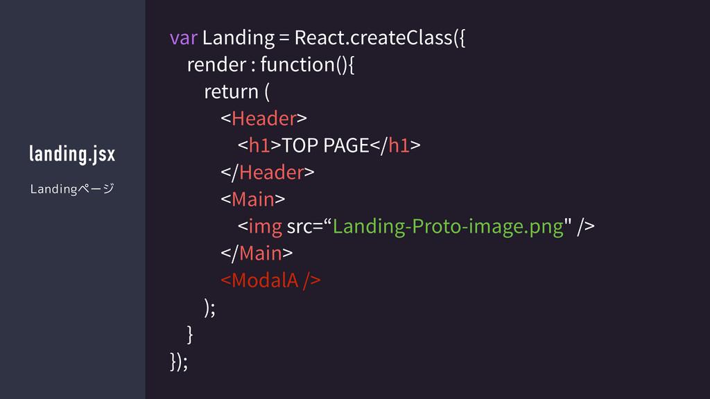 landing.jsx var Landing = React.createClass({ r...
