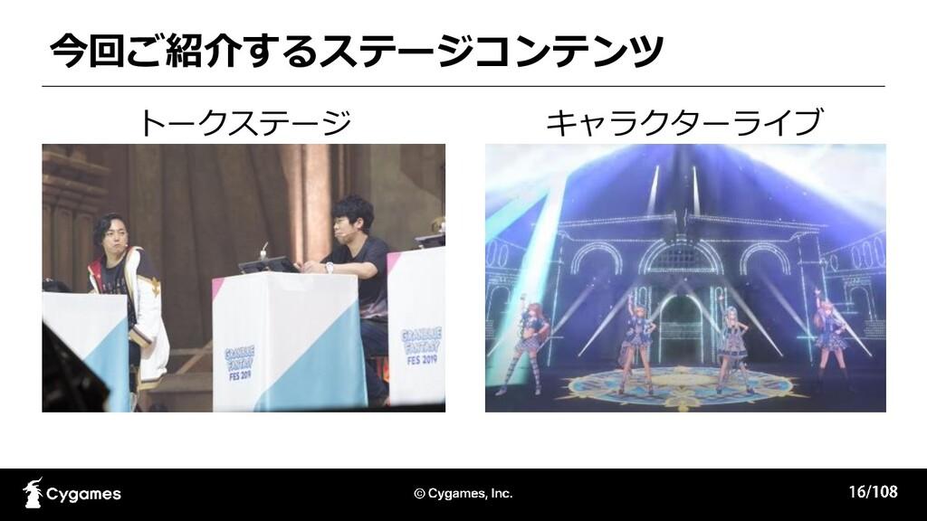 今回ご紹介するステージコンテンツ トークステージ キャラクターライブ