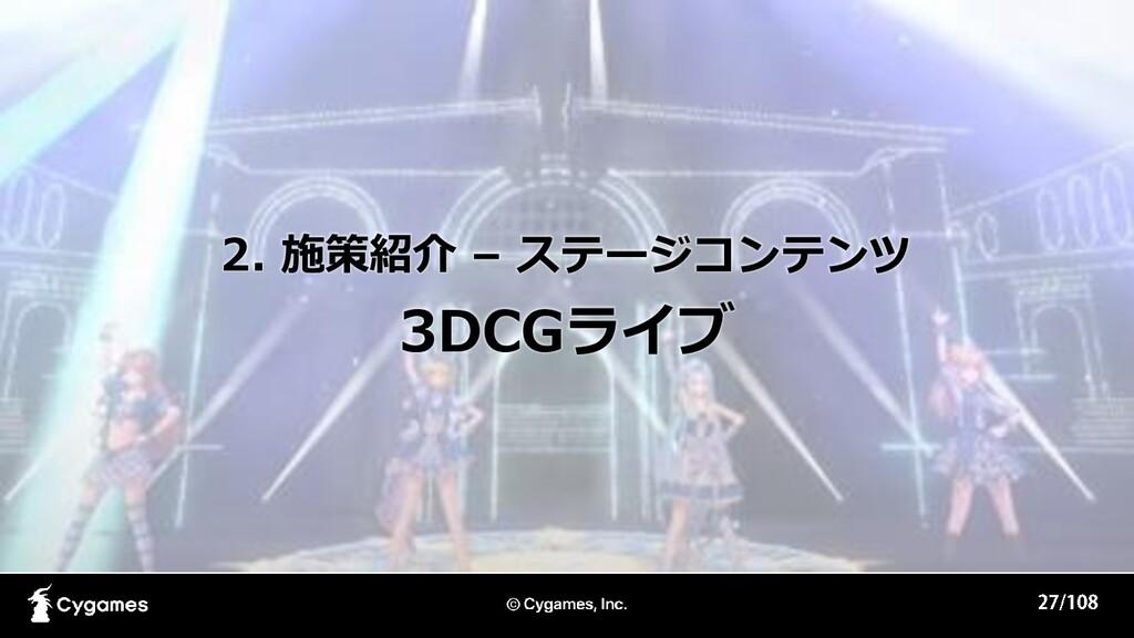 2. 施策紹介 – ステージコンテンツ 3DCGライブ