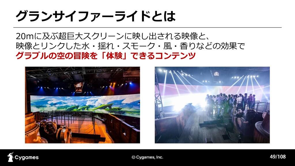 グランサイファーライドとは 20mに及ぶ超巨大スクリーンに映し出される映像と、 映像とリンクし...