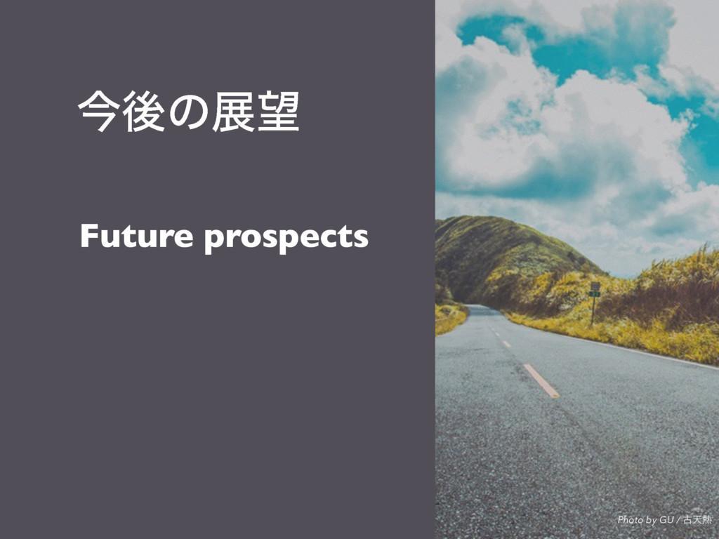 ࠓޙͷల Future prospects Photo by GU / ݹఱ