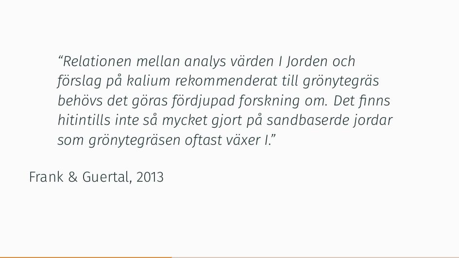 """""""Relationen mellan analys värden I Jorden och f..."""