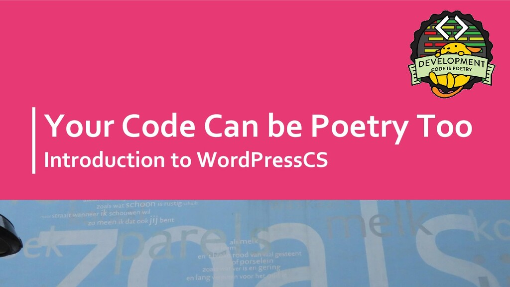 Your Code Can be Poetry Too Introduction to Wor...