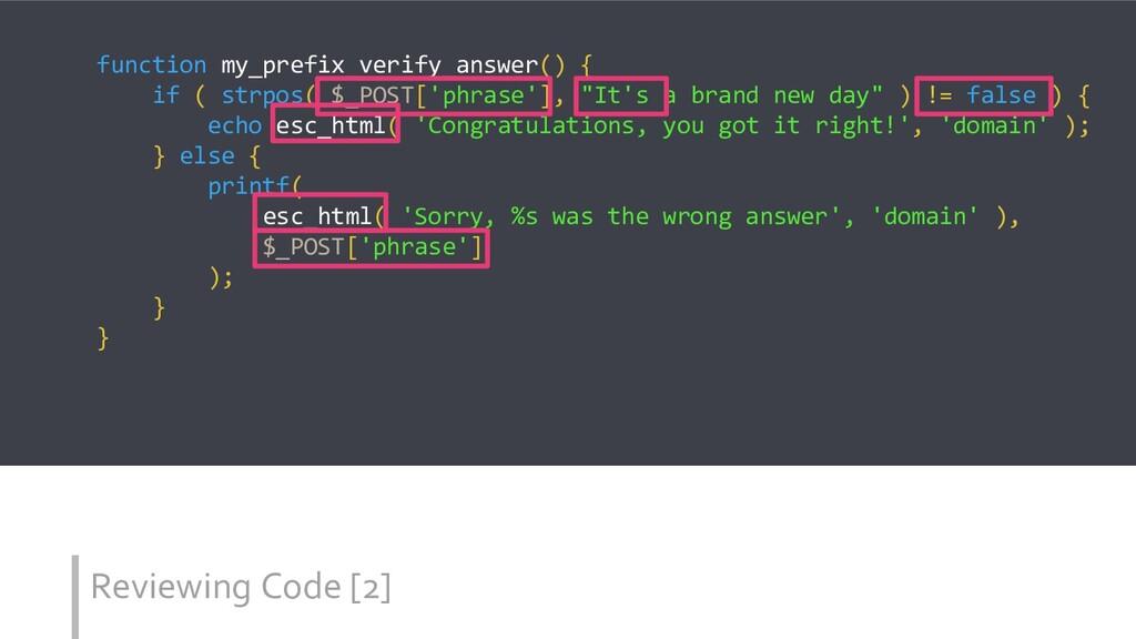 Reviewing Code [2] function my_prefix_verify_an...